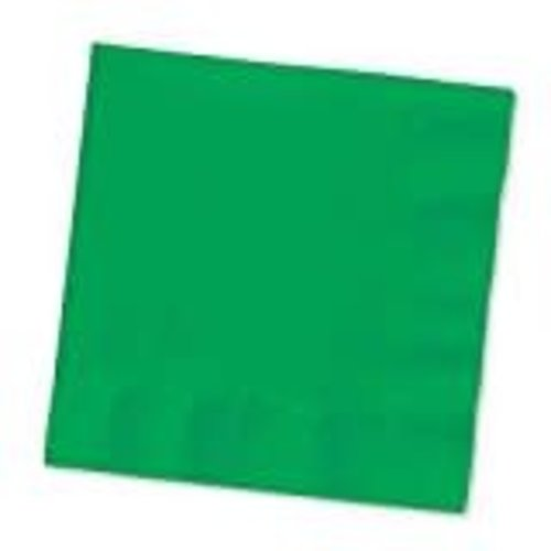 *Emerald Green 3ply Beverage Napkins 50ct