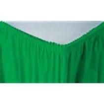 ***Emerald Green 14' Plastic Table Skirt