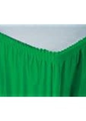 ***Emerald Green 14' Plastic Table Skirt