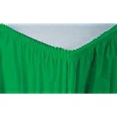 *Emerald Green 14' Plastic Table Skirt