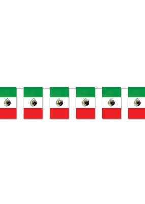 ***Plastic Mexican Flag Outdoor Banner