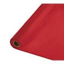 ***Classic Red 100' Roll Plastic Tablecover