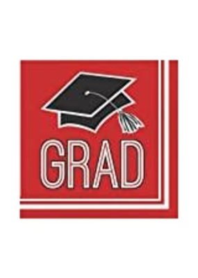 ****Classic Red School Spirit Grad Lunch Napkins 36ct