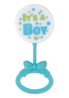***Blue Baby Rattles Baby Shower Favors 4ct