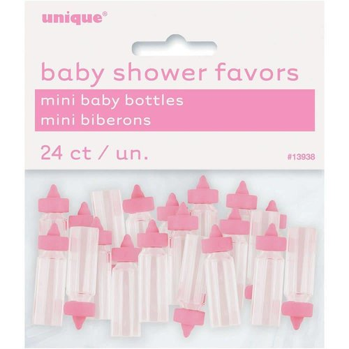 Pink Mini Baby Bottle Party Favors