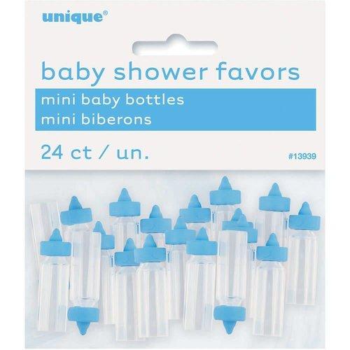 Blue Mini Baby Bottle Baby Shower Favors