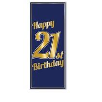 ***21st Birthday Door Poster