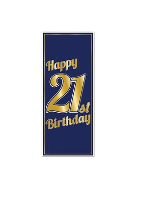 ***21st Birthday Door Poster