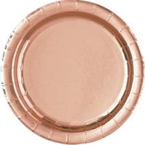 Rose Gold Foil 7in Plate