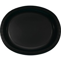 ***Black Velvet Oval Platters 8ct