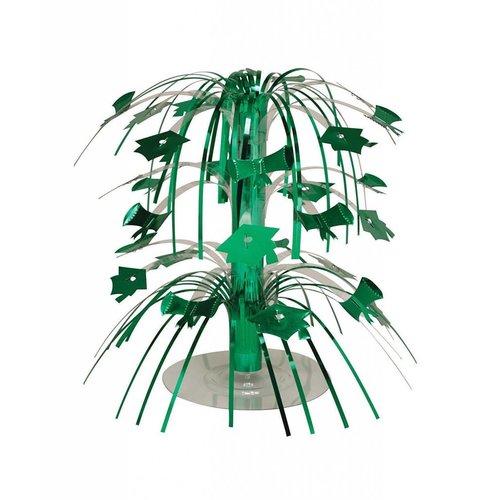 Emerald Green Grad Mini Cascade Centerpiece