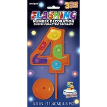 *Flashing Number 4 Decoration