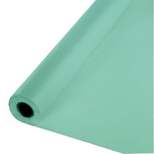 *Fresh Mint 100' Roll Plastic Tablecover