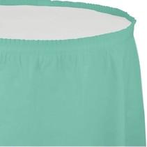 ***Fresh Mint 14' Plastic Table Skirt