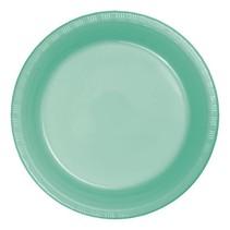 "***Fresh Mint 7"" Plastic Dessert Plates 20ct"