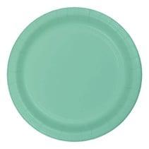 """***Fresh Mint 7"""" Round Paper Dessert Plates 24ct"""
