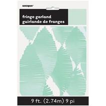 *Mint Green Fringe Tissue Garland 9ft