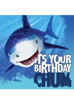 ****Shark Splash Birthday Lunch Napkin 16ct