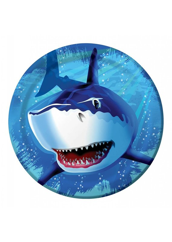 """***Shark Splash 9"""" Dinner Plate 8ct"""