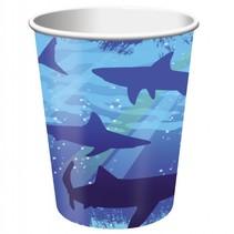*Shark Splash 9oz Cup 8ct