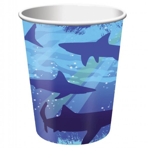 *Shark Splash 9oz Cup 8ct