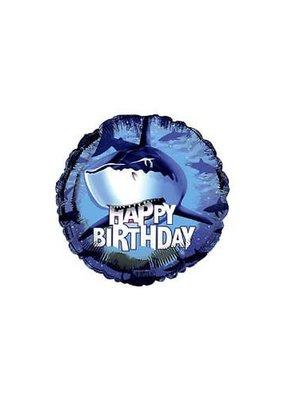 "***Shark Splash 18"" Mylar Balloon"