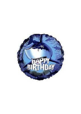 "*****Shark Splash 18"" Mylar Balloon"