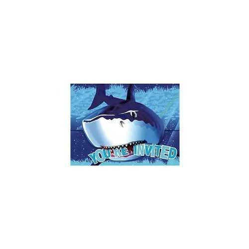 *Shark Splash Invitation 8ct