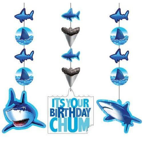 *Shark Splash Hanging Cutouts 3ct