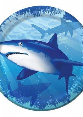 "***Shark Splash 7"" Plate 8ct"