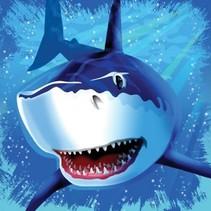 *Shark Splash Lunch Napkins 16ct