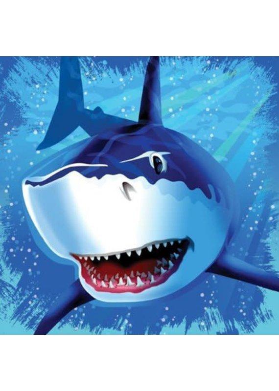 ****Shark Splash Lunch Napkins 16ct