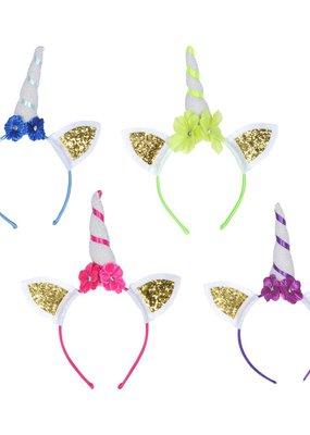 ***Glittered Unicorn Headband 4ct