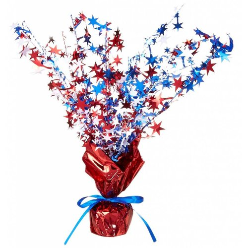 Red, White, Blue Gleam N' Burst Centerpiece