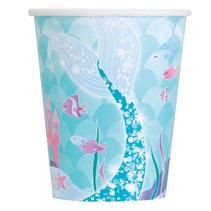*Mermaid Swimming 9oz Cups 8ct