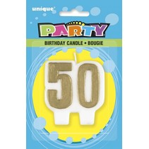 ***Gold 50th Candle