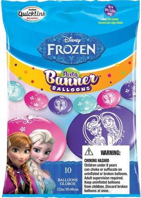 M&D industries ***Frozen Party Banner Balloons 10ct
