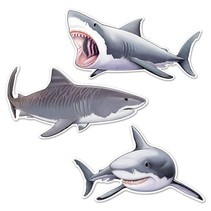 *Shark Cutouts 3ct Two Sided