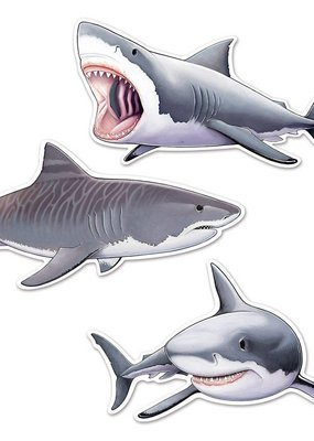 ***Shark Cutouts 3ct Two Sided