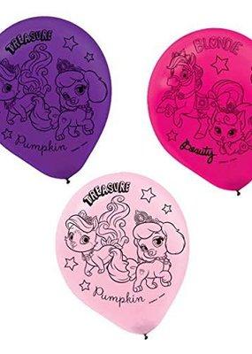 ***Palace Pets Latex Balloons 6ct