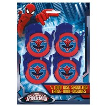 ***Spiderman Mini Disc Shooters 4ct