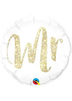 "***Mr Gold 18"" Mylar Balloon"