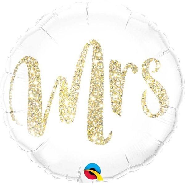 Mrs. Gold Mylar Balloon