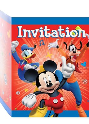 ***Mickey & The Roadster Racer Invitations 8ct