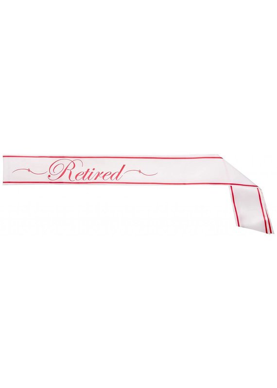 *****Retirement Sash Pink & White