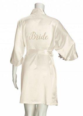 ***Bride Ivory Silk Robe