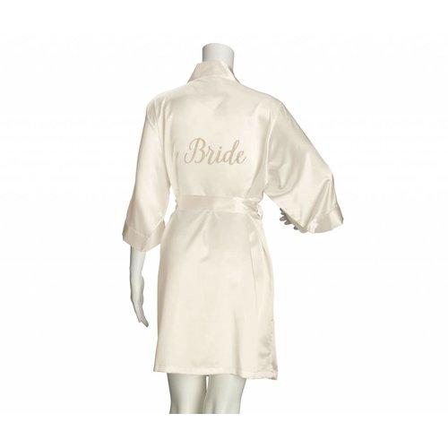 Bride Ivory Silk Robe