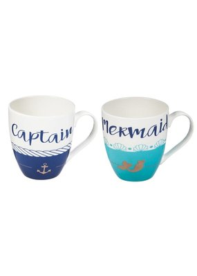 ***Mermaid & Captain Mug Set