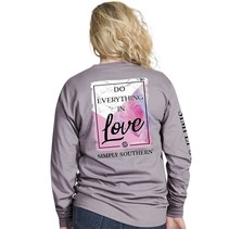 ***Long Sleeve Preppy In Love Steel