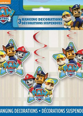 ***Paw Patrol Hanging Decorations 3ct